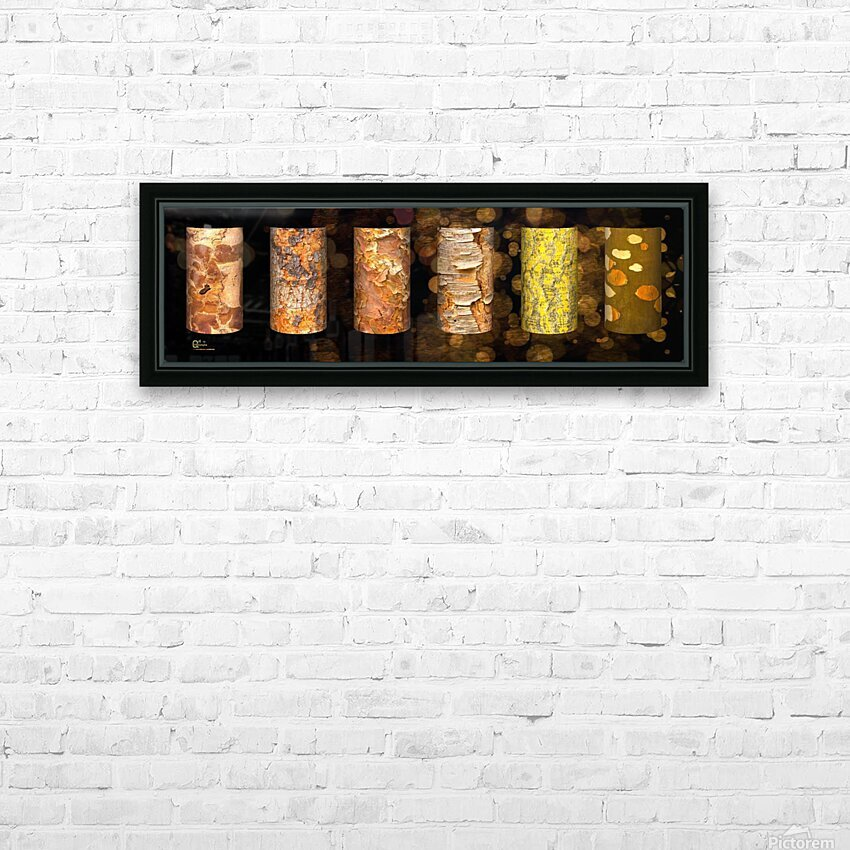 tree bark symphony HD Sublimation Metal print with Decorating Float Frame (BOX)