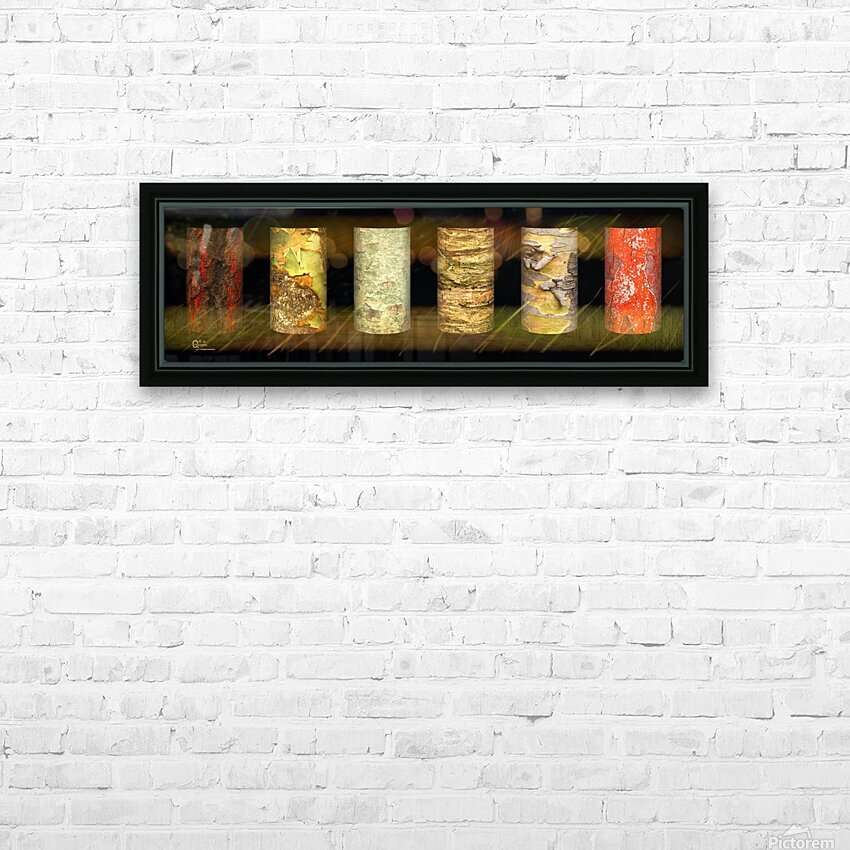 tree bark jungle HD Sublimation Metal print with Decorating Float Frame (BOX)