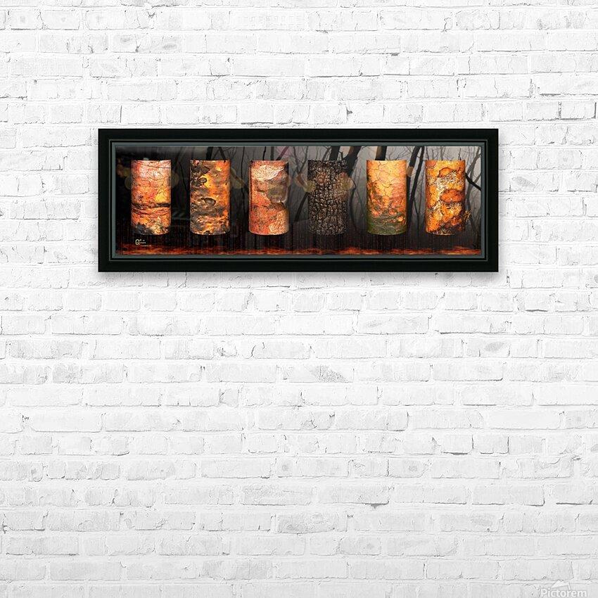 tree bark aBlaze HD Sublimation Metal print with Decorating Float Frame (BOX)