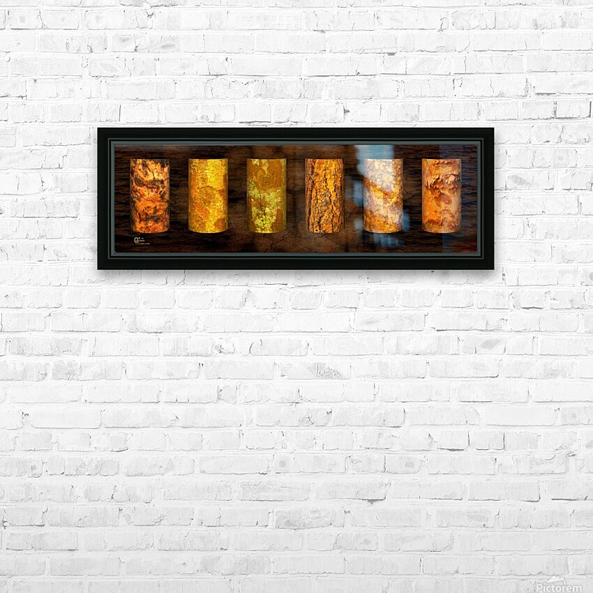 tree bark strong HD Sublimation Metal print with Decorating Float Frame (BOX)