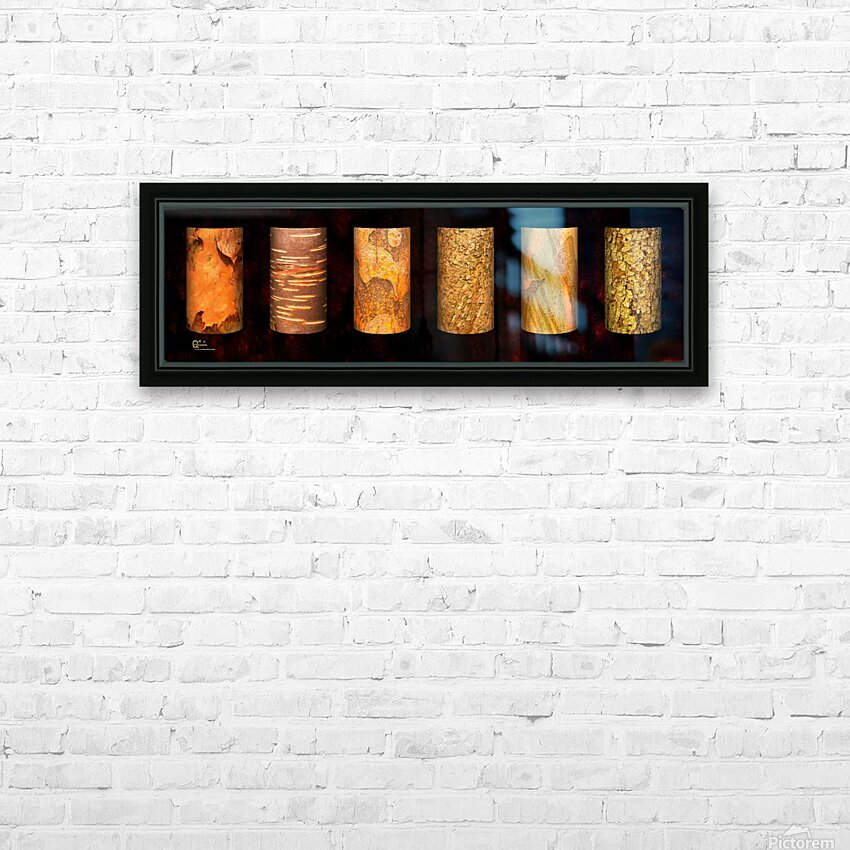 tree bark red HD Sublimation Metal print with Decorating Float Frame (BOX)