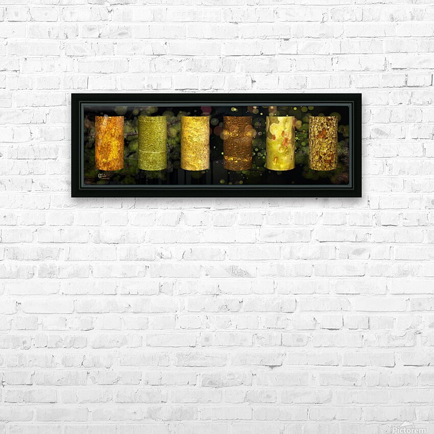tree bark green zone HD Sublimation Metal print with Decorating Float Frame (BOX)