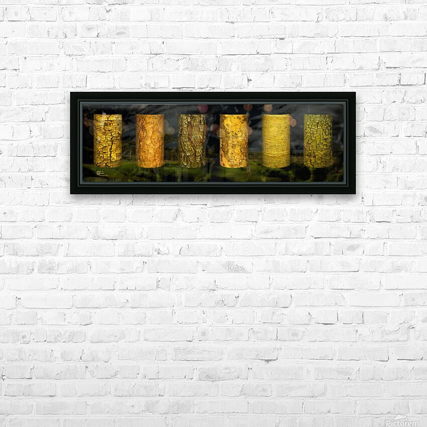 tree bark sentinels HD Sublimation Metal print with Decorating Float Frame (BOX)