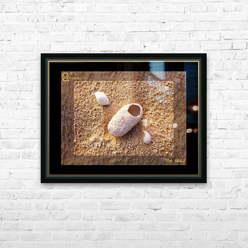 the child - English HD Sublimation Metal print with Decorating Float Frame (BOX)