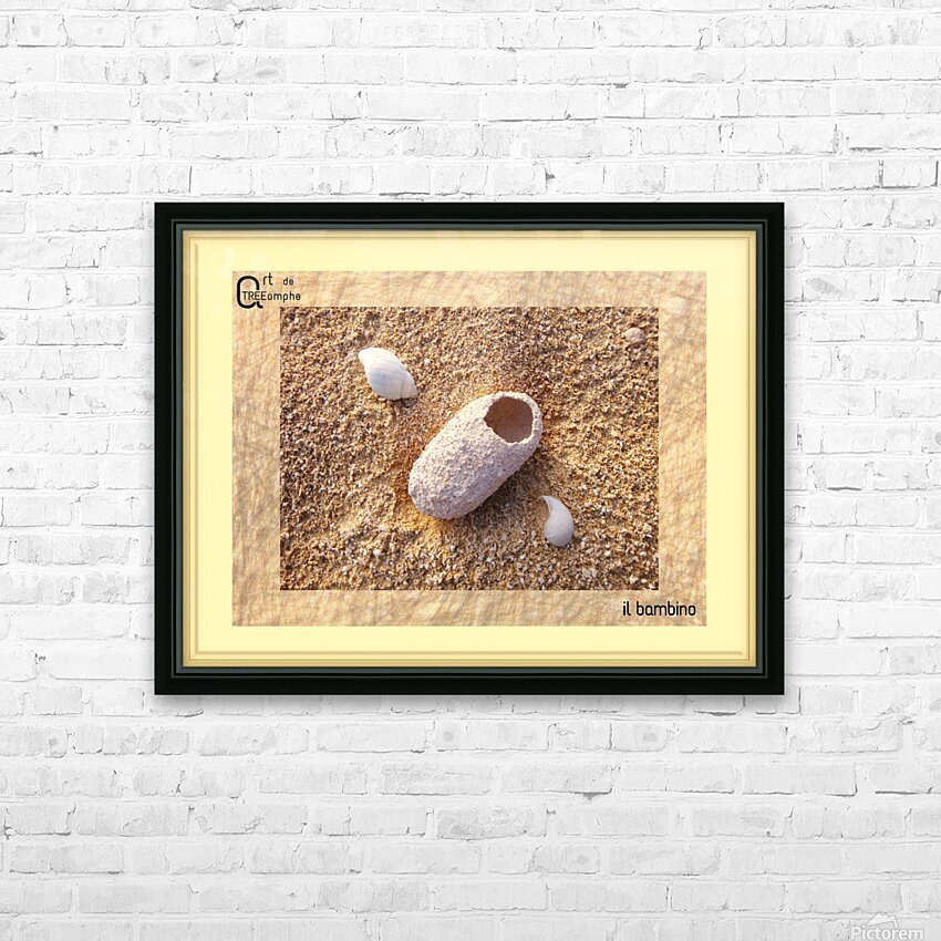 the child - Italian HD Sublimation Metal print with Decorating Float Frame (BOX)