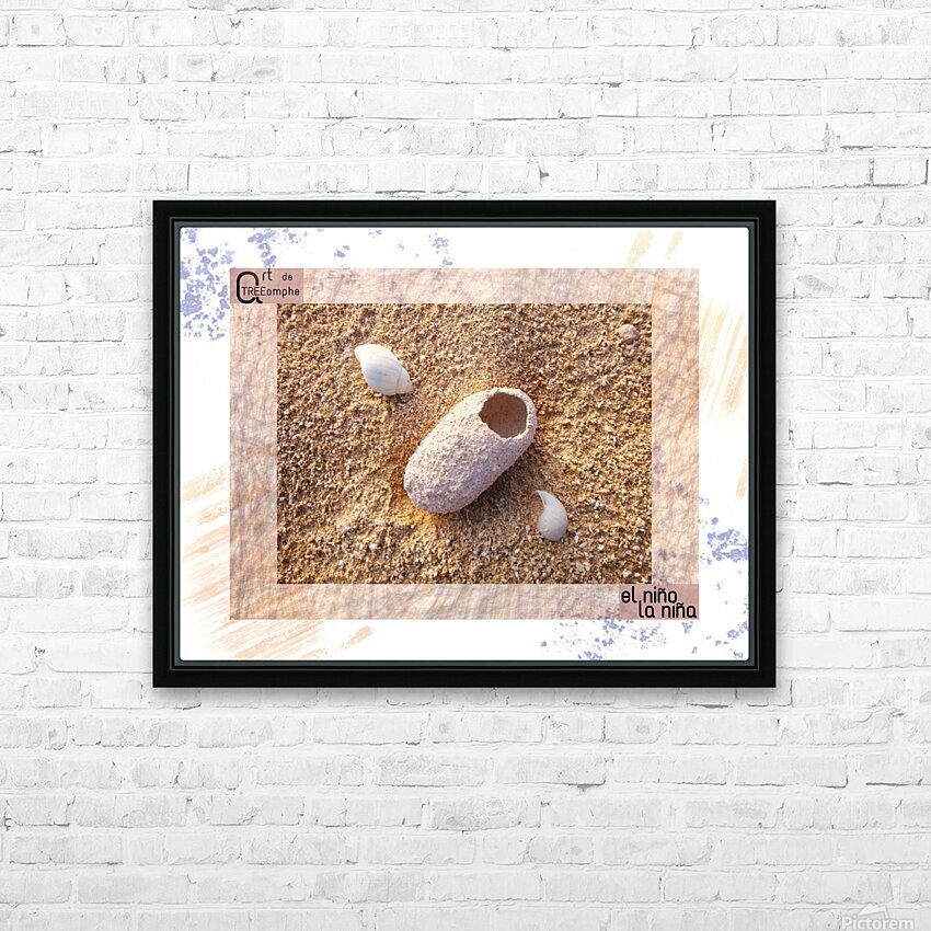 the child - Spanish HD Sublimation Metal print with Decorating Float Frame (BOX)