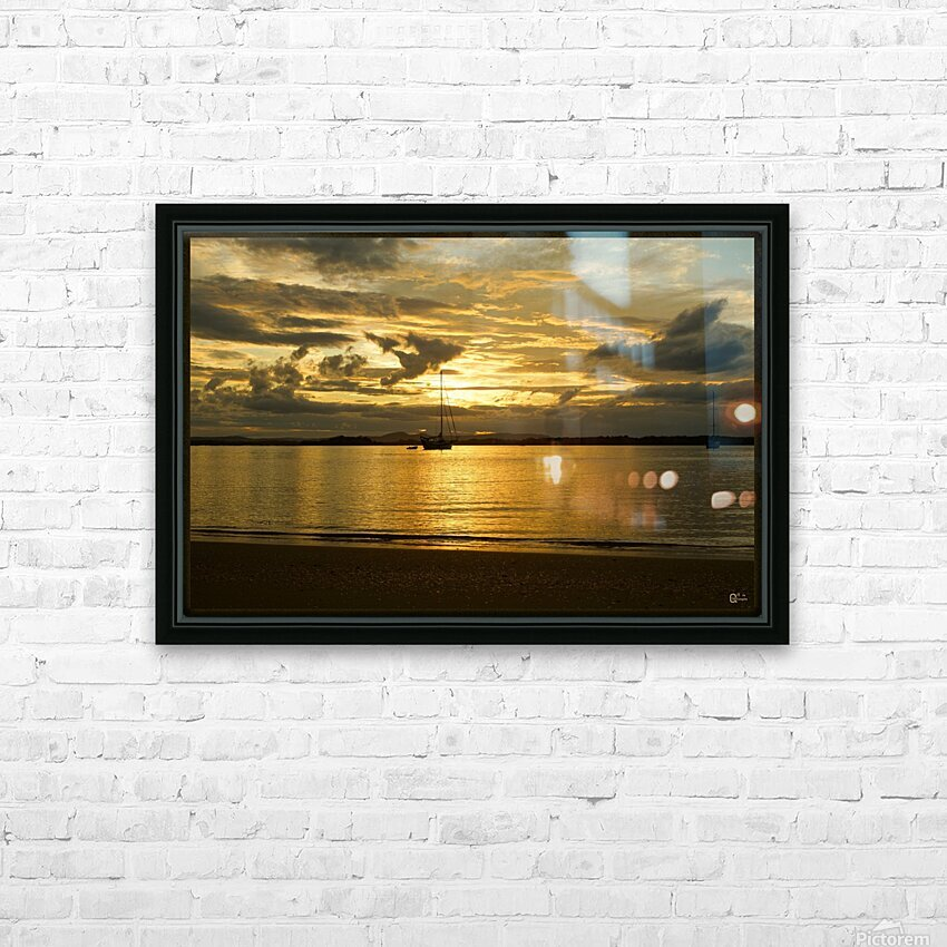 clarence river sunset HD Sublimation Metal print with Decorating Float Frame (BOX)