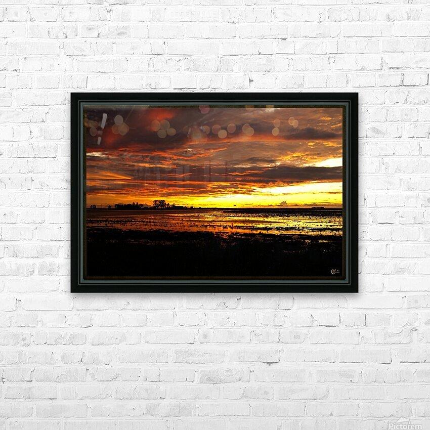 granite belt sunset HD Sublimation Metal print with Decorating Float Frame (BOX)