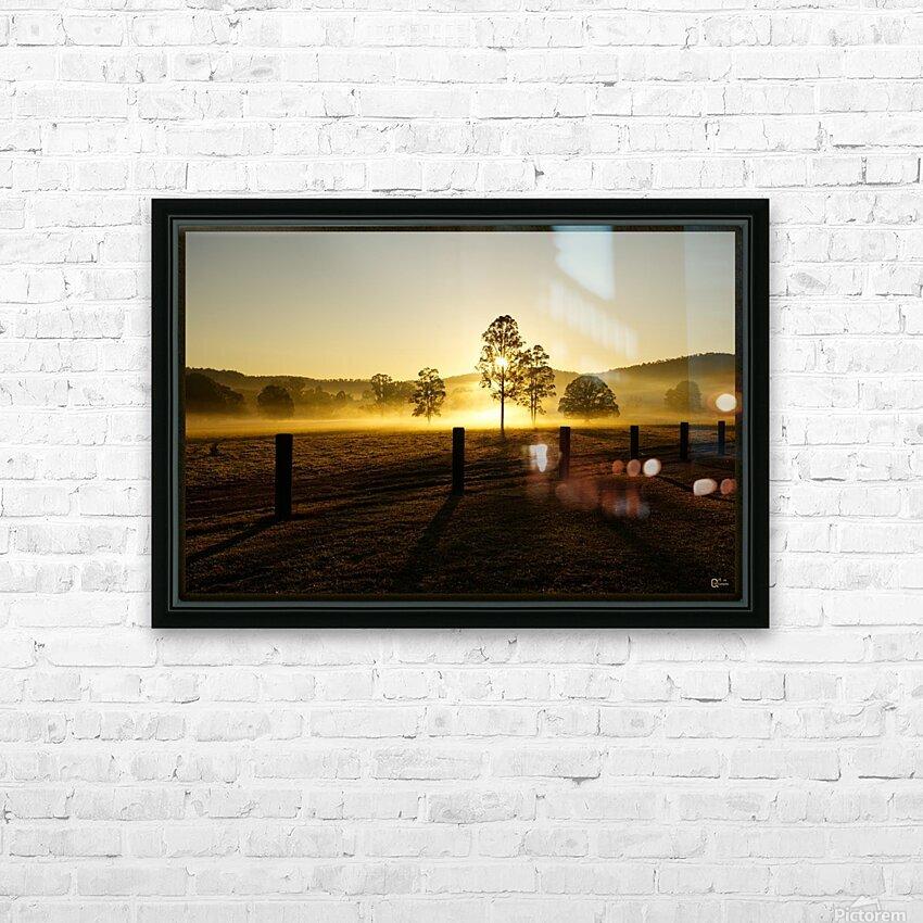 glenreagh sunrise HD Sublimation Metal print with Decorating Float Frame (BOX)