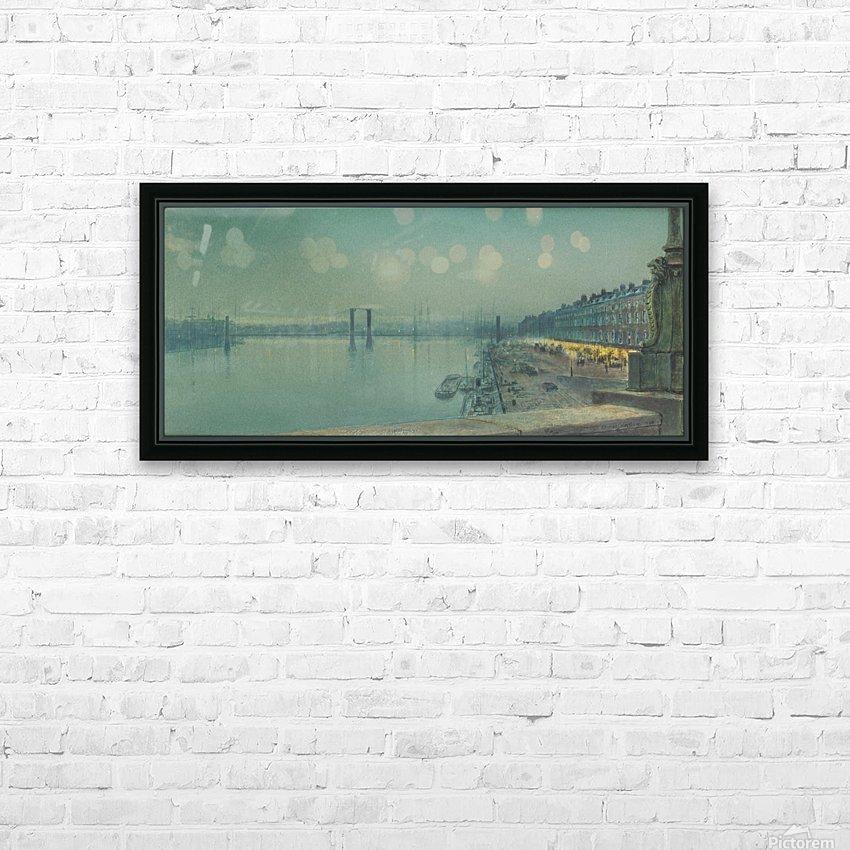 Quai de Paris Rouen HD Sublimation Metal print with Decorating Float Frame (BOX)