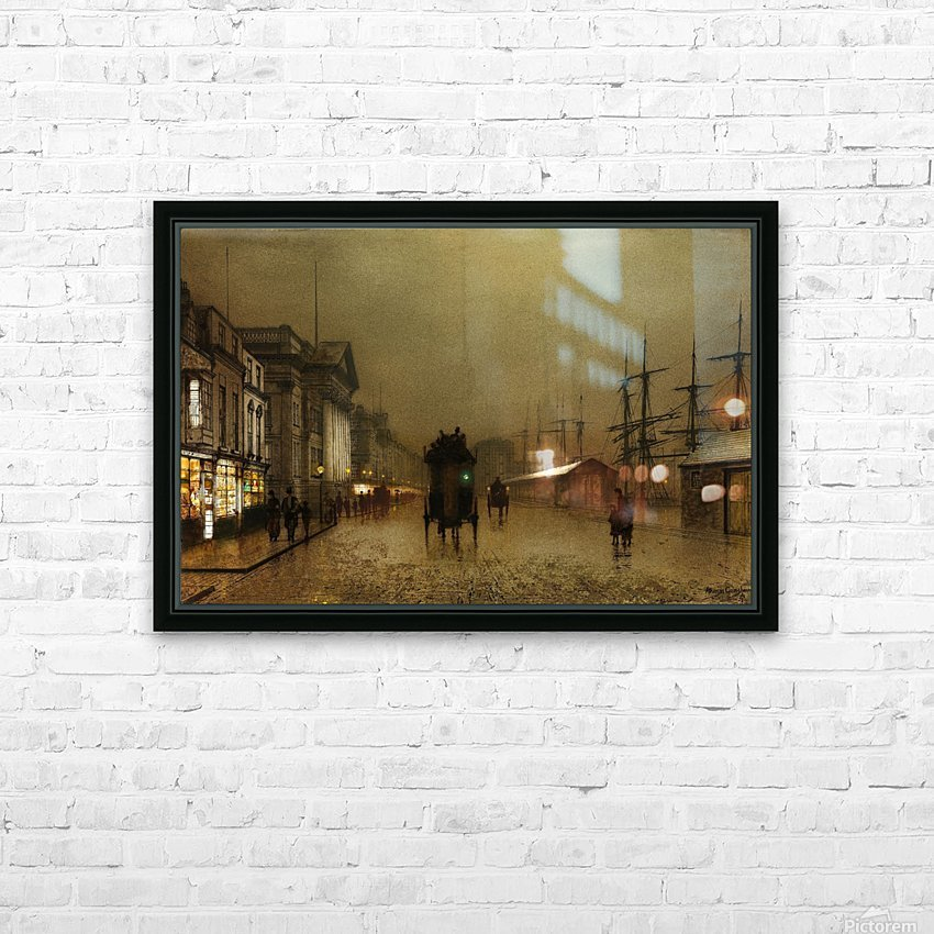 The Dockside Liverpool at Night HD Sublimation Metal print with Decorating Float Frame (BOX)