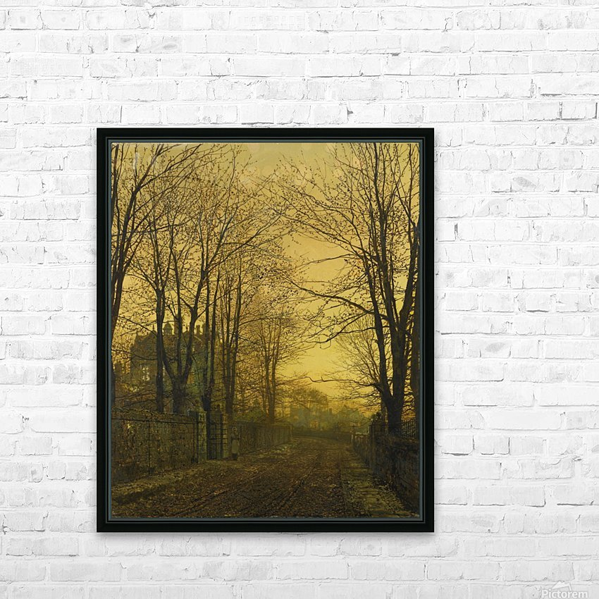 Autumn view with figure HD Sublimation Metal print with Decorating Float Frame (BOX)