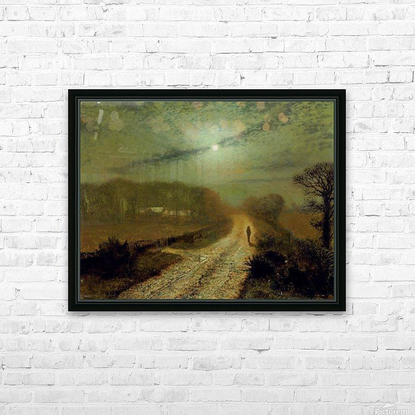 Moonlit Landscape HD Sublimation Metal print with Decorating Float Frame (BOX)