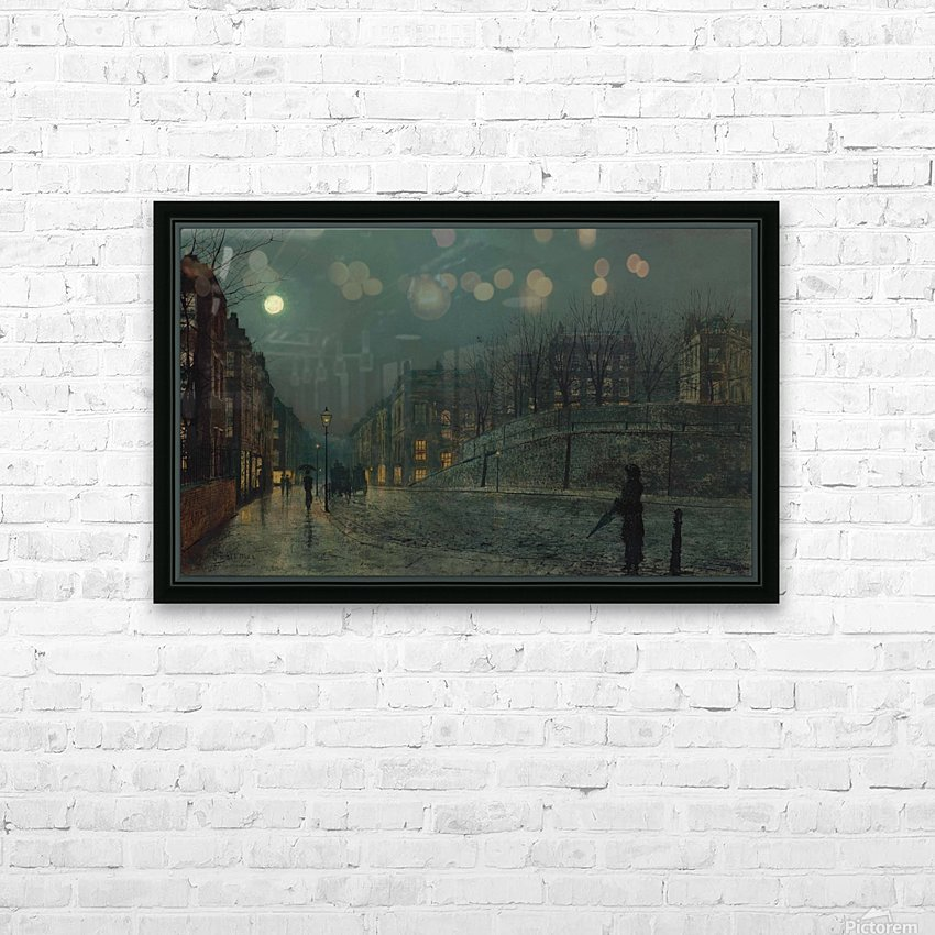 Heath Street, Hampstead HD Sublimation Metal print with Decorating Float Frame (BOX)
