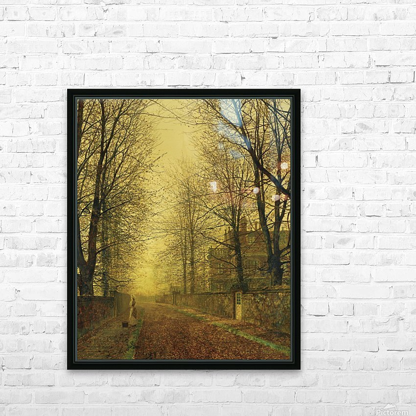 Lady within autumn glow HD Sublimation Metal print with Decorating Float Frame (BOX)