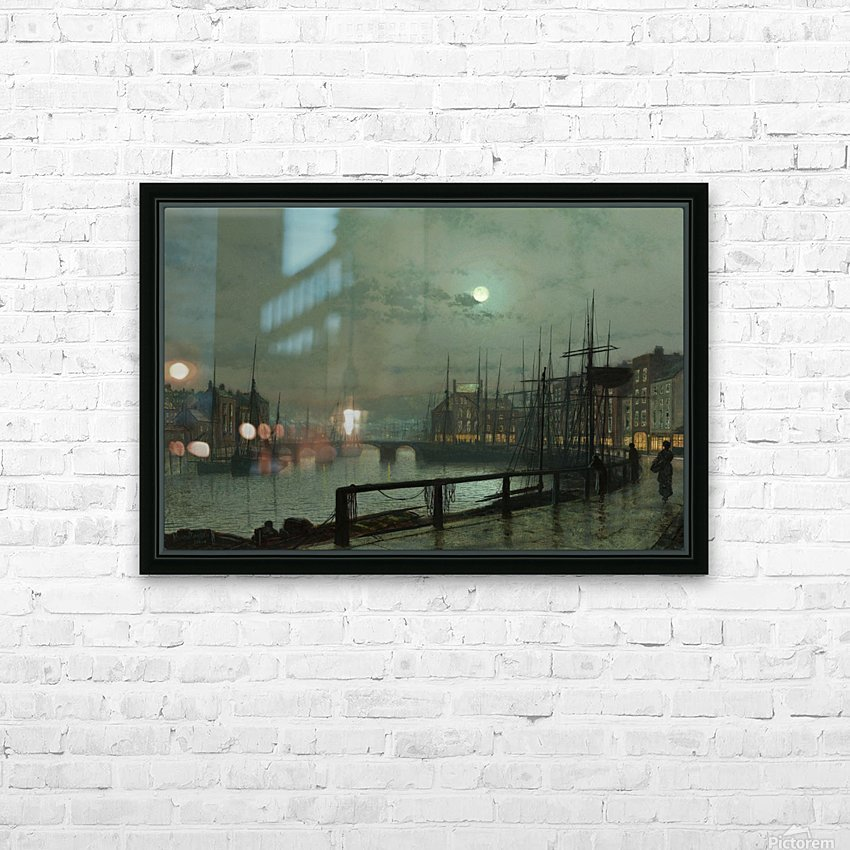 Whitby by moonlight HD Sublimation Metal print with Decorating Float Frame (BOX)