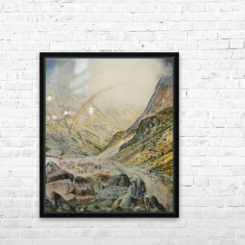 A mountain road, flood time HD Sublimation Metal print with Decorating Float Frame (BOX)
