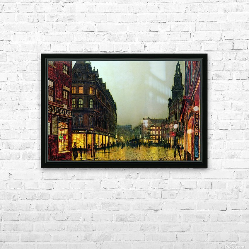 Boar Lane, Leeds HD Sublimation Metal print with Decorating Float Frame (BOX)
