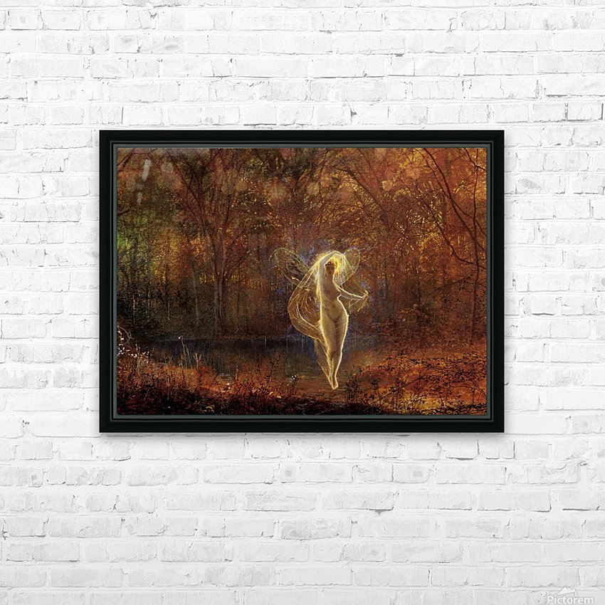 Dame Autumn has a mournful face HD Sublimation Metal print with Decorating Float Frame (BOX)