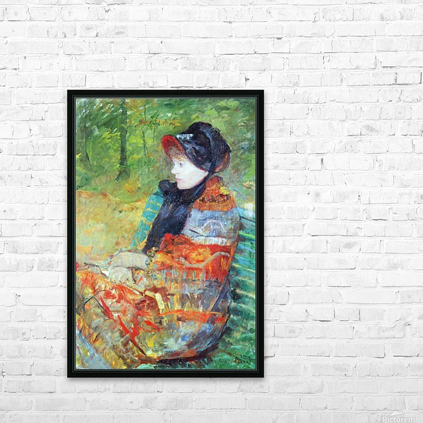 Profile of Lydia by Cassatt HD Sublimation Metal print with Decorating Float Frame (BOX)
