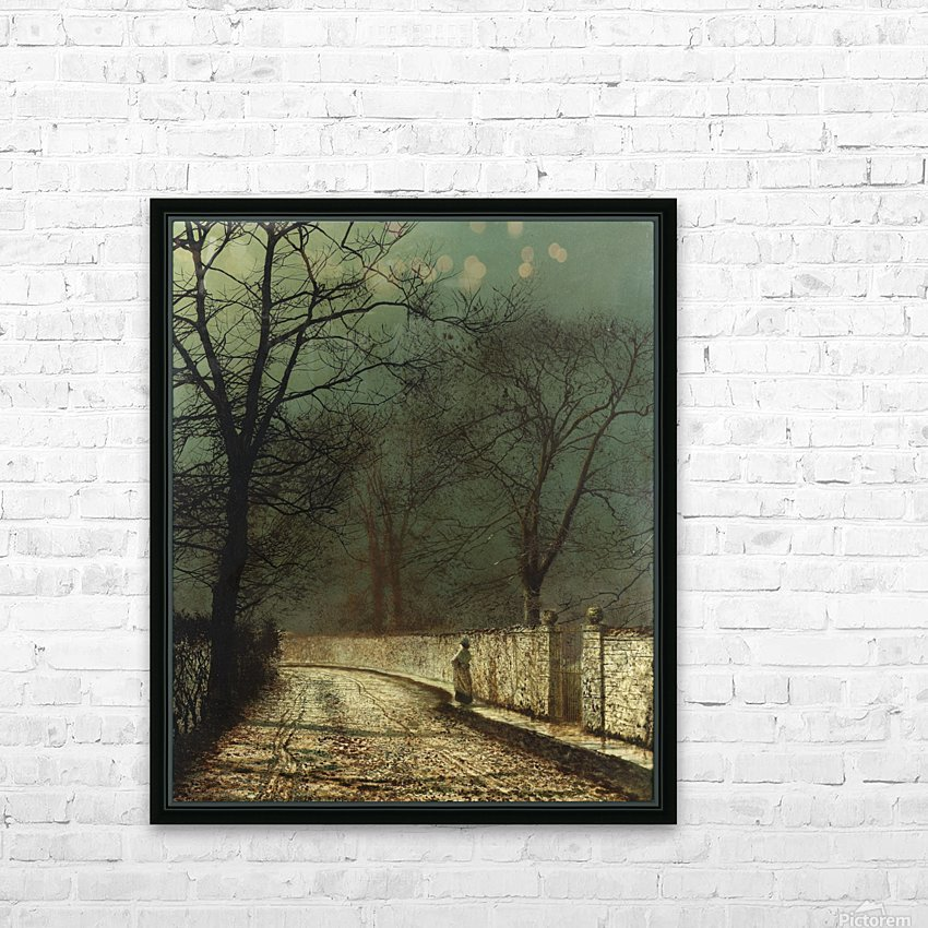 A November Night, 1874 HD Sublimation Metal print with Decorating Float Frame (BOX)