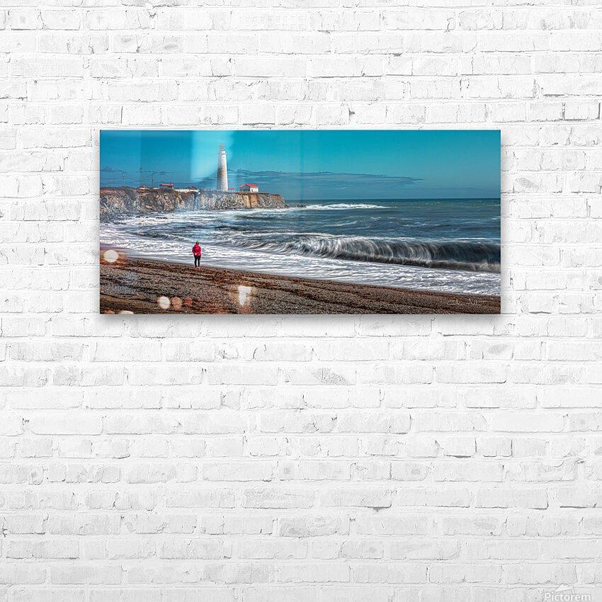 Le phare et la dame en rouge HD Sublimation Metal print with Decorating Float Frame (BOX)