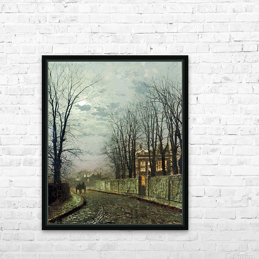 A Wintry Moon HD Sublimation Metal print with Decorating Float Frame (BOX)