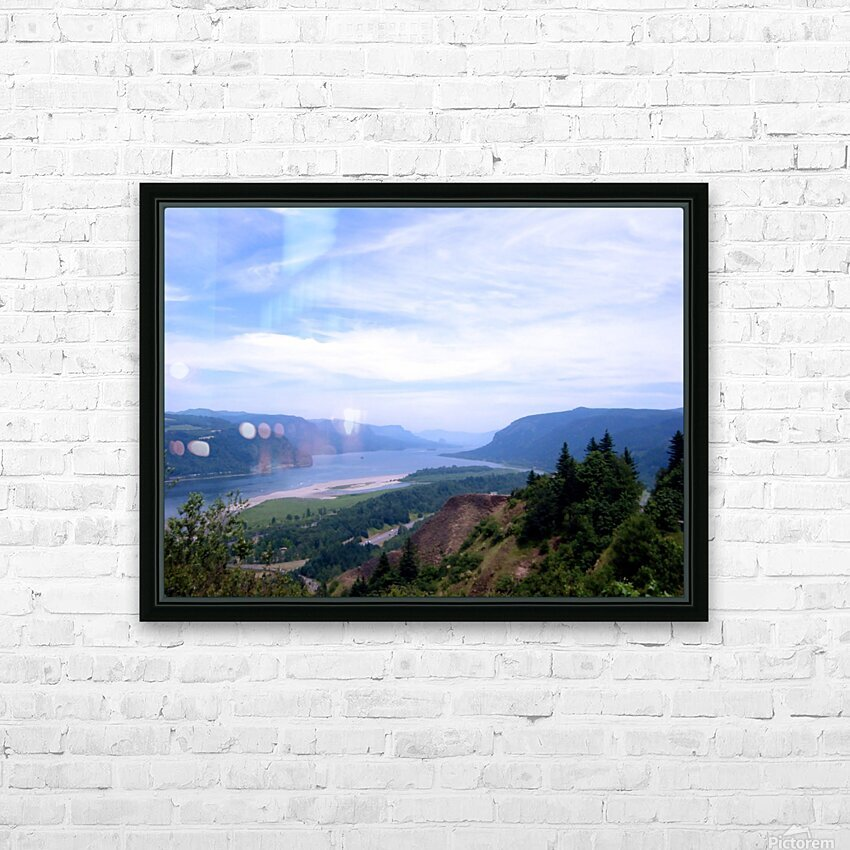 The Gorge   Columbia River HD Sublimation Metal print with Decorating Float Frame (BOX)