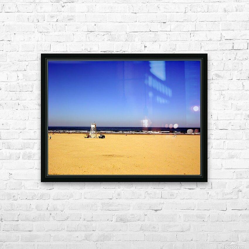 Oregon Coast   Golden Sands HD Sublimation Metal print with Decorating Float Frame (BOX)