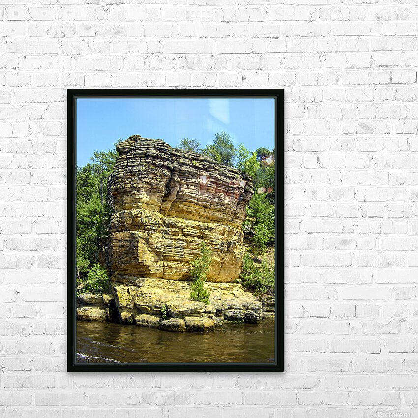 Rugged Wisconsin 4 HD Sublimation Metal print with Decorating Float Frame (BOX)