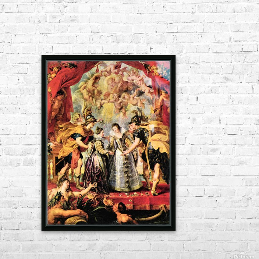 Replacing the Medici Princess by Rubens HD Sublimation Metal print with Decorating Float Frame (BOX)
