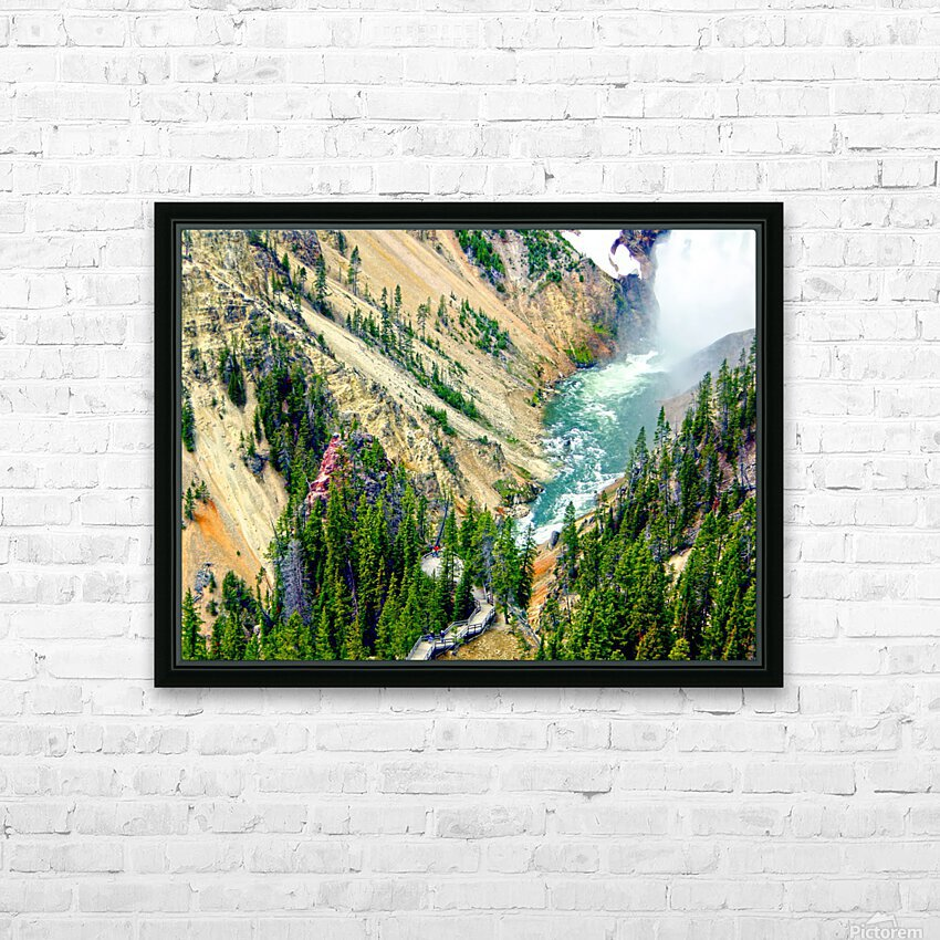 Mighty Yellowstone 3 - Grand Canyon of the Yellowstone River - Yellowstone National Park HD Sublimation Metal print with Decorating Float Frame (BOX)