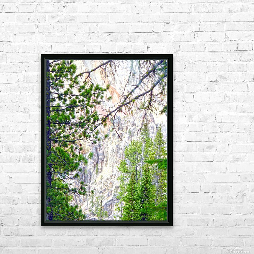 Mighty Yellowstone 4 - Grand Canyon of the Yellowstone River - Yellowstone National Park HD Sublimation Metal print with Decorating Float Frame (BOX)