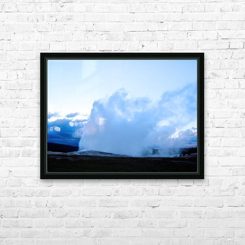 Old Faithful   Yellowstone HD Sublimation Metal print with Decorating Float Frame (BOX)