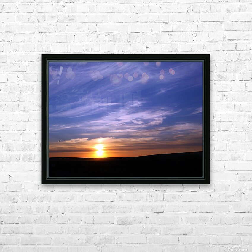 Montana   Sunset HD Sublimation Metal print with Decorating Float Frame (BOX)