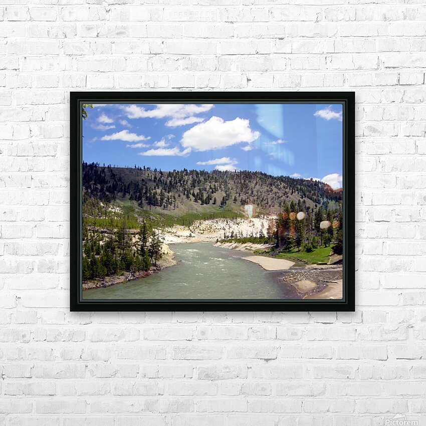 Yellowstone National Park 3 HD Sublimation Metal print with Decorating Float Frame (BOX)