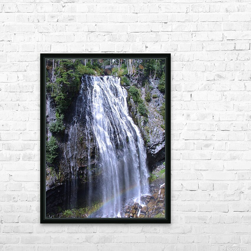 Narada Falls at Mount Rainier Pacific Northwest HD Sublimation Metal print with Decorating Float Frame (BOX)
