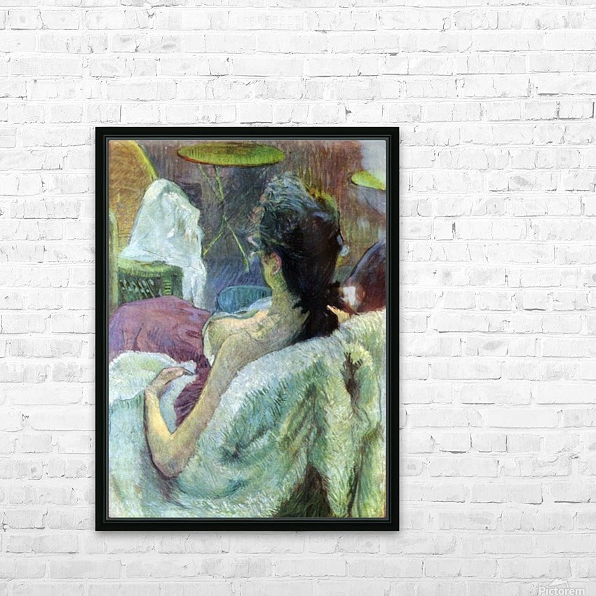 Resting Model by Toulouse-Lautrec HD Sublimation Metal print with Decorating Float Frame (BOX)