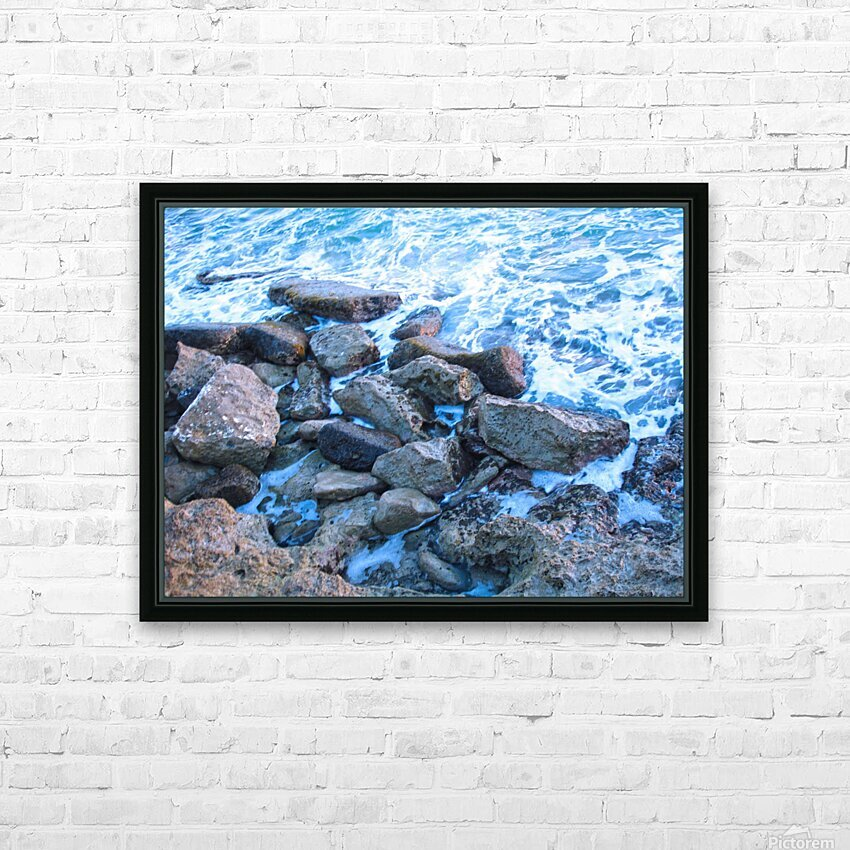 Rugged Coast HD Sublimation Metal print with Decorating Float Frame (BOX)
