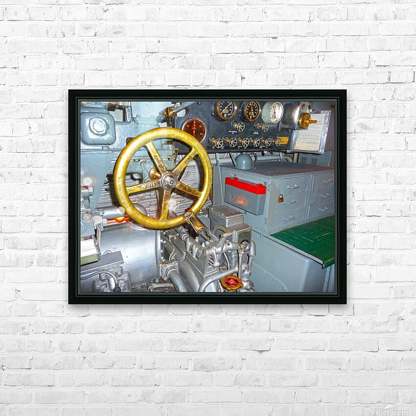 Submarine 2 HD Sublimation Metal print with Decorating Float Frame (BOX)
