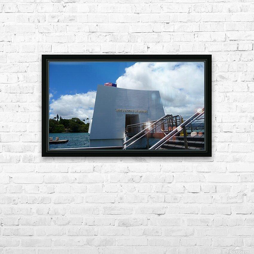 USS Arizona Memorial Hawaii HD Sublimation Metal print with Decorating Float Frame (BOX)