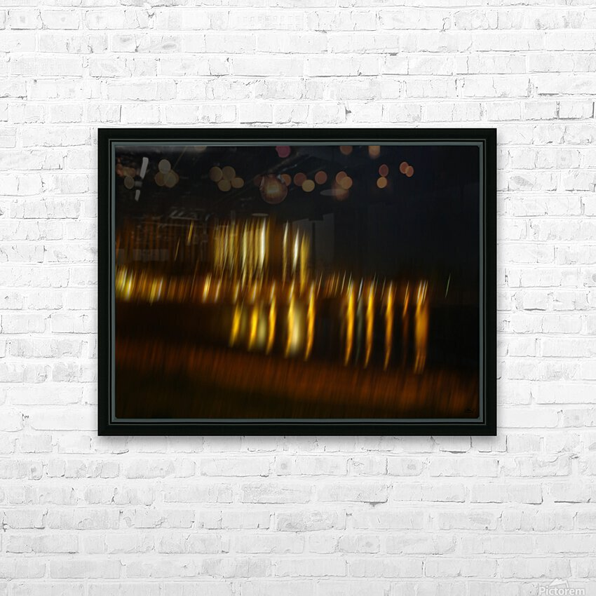 Lights HD Sublimation Metal print with Decorating Float Frame (BOX)