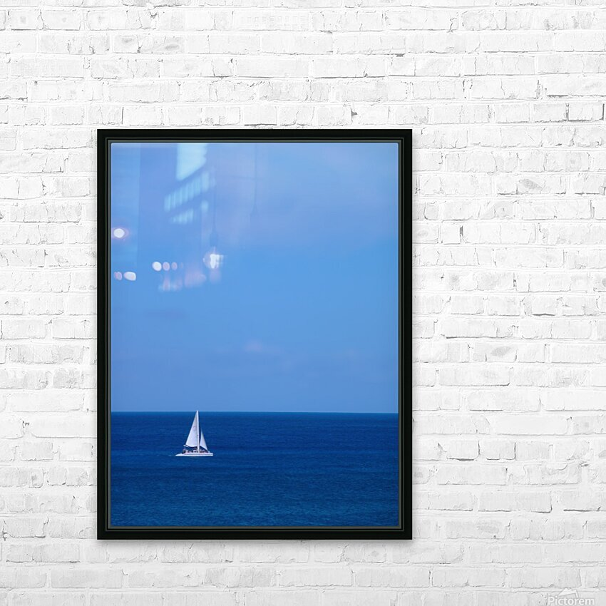 Blue Day - Gallery Artwork of the Year 2017 - Minimalism HD Sublimation Metal print with Decorating Float Frame (BOX)
