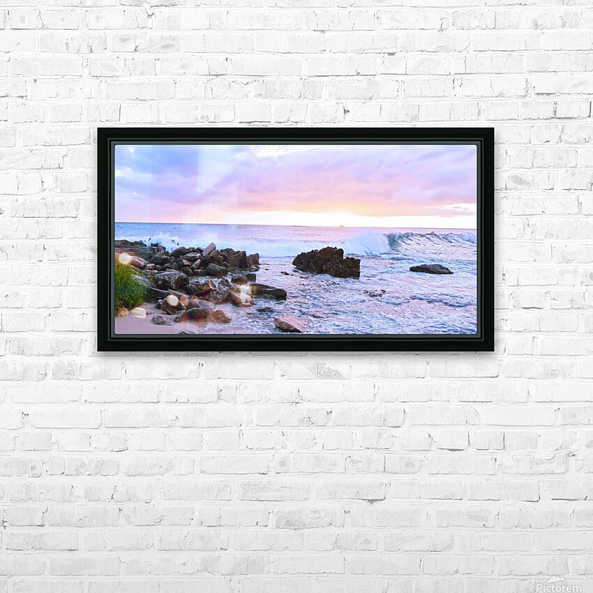 Rocky Coast HD Sublimation Metal print with Decorating Float Frame (BOX)
