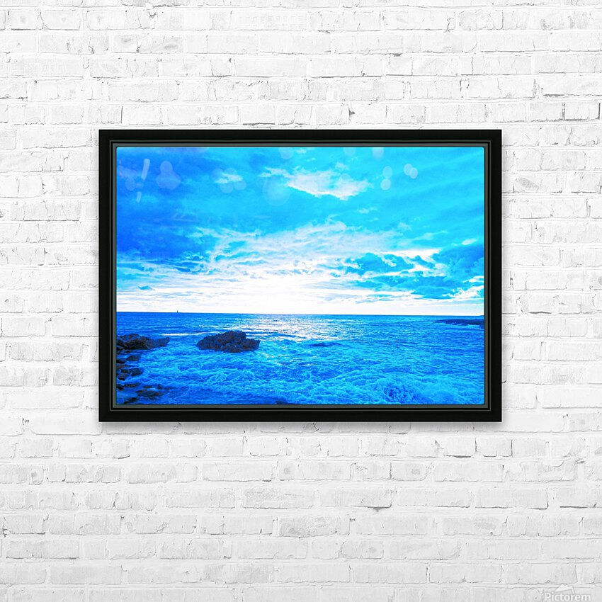 Blue World HD Sublimation Metal print with Decorating Float Frame (BOX)