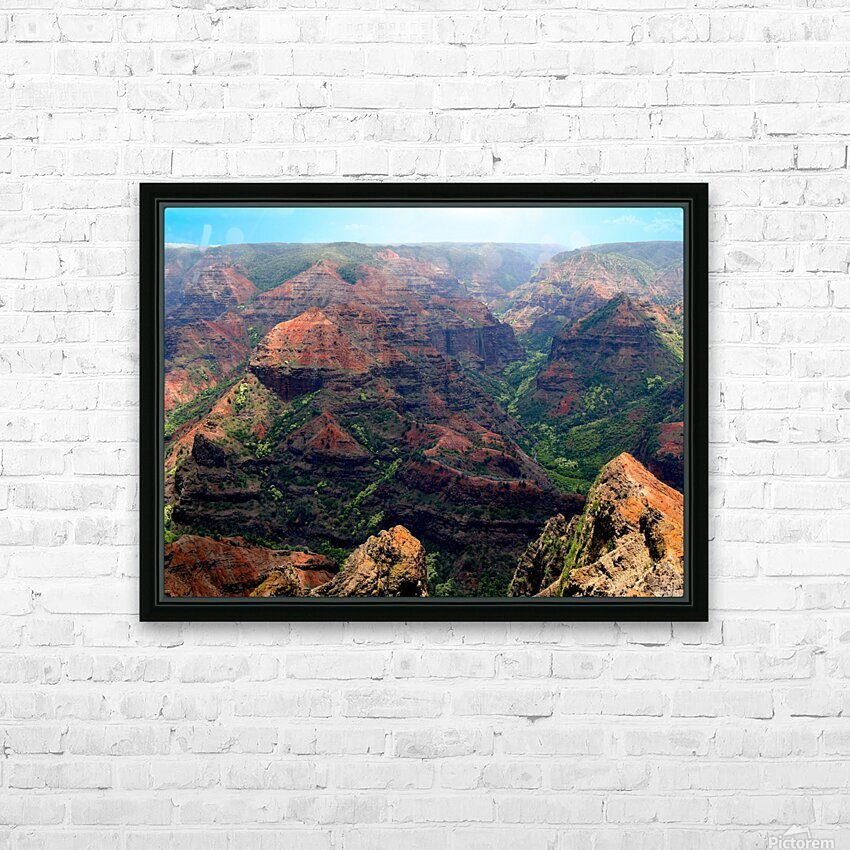 Rugged Kauai HD Sublimation Metal print with Decorating Float Frame (BOX)