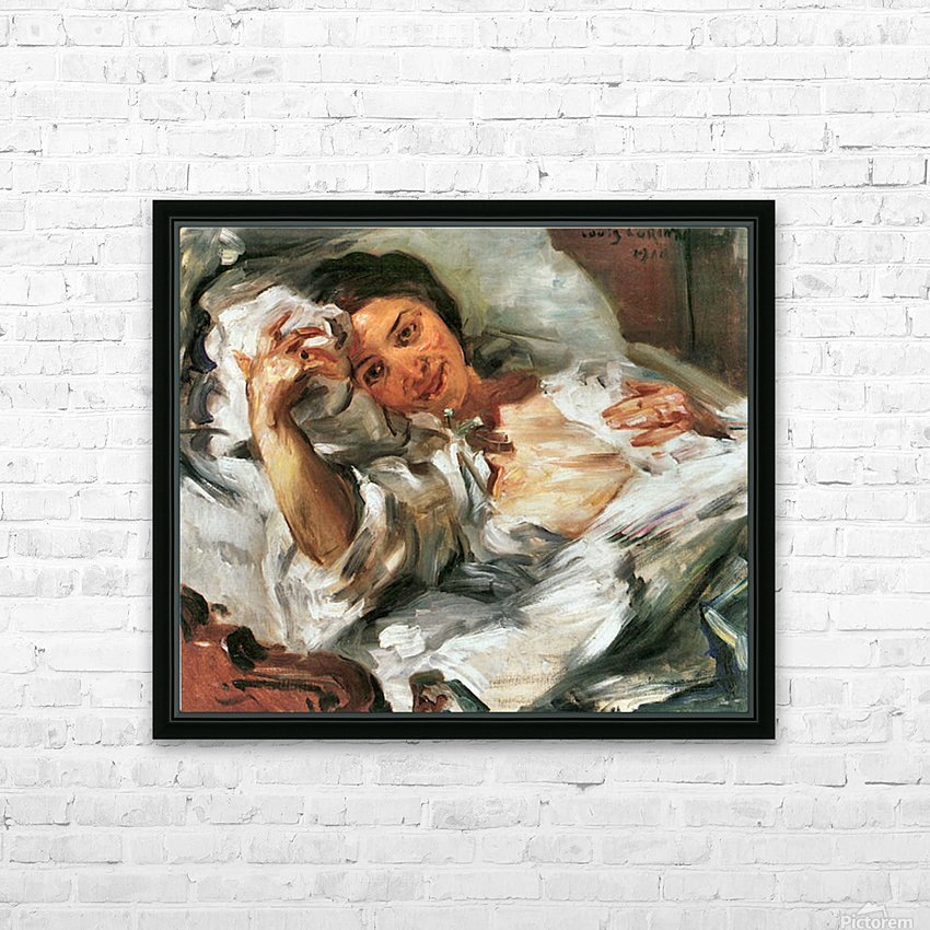 Morning Sun by Lovis Corinth HD Sublimation Metal print with Decorating Float Frame (BOX)