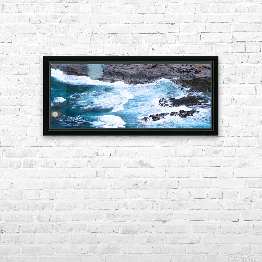 Swirling Blue Seas HD Sublimation Metal print with Decorating Float Frame (BOX)