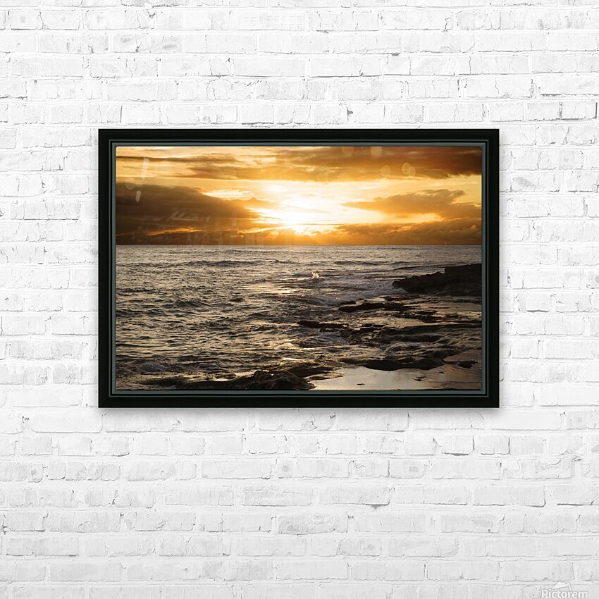 Dusk HD Sublimation Metal print with Decorating Float Frame (BOX)