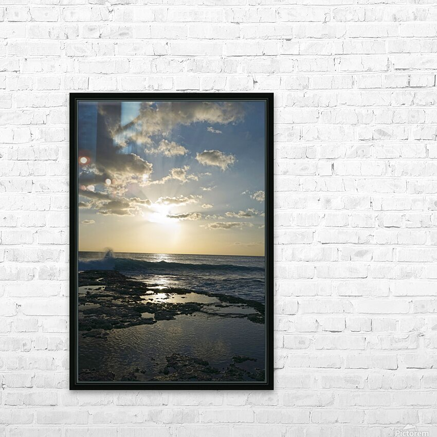 Softly Came the Night Over the Pacific HD Sublimation Metal print with Decorating Float Frame (BOX)